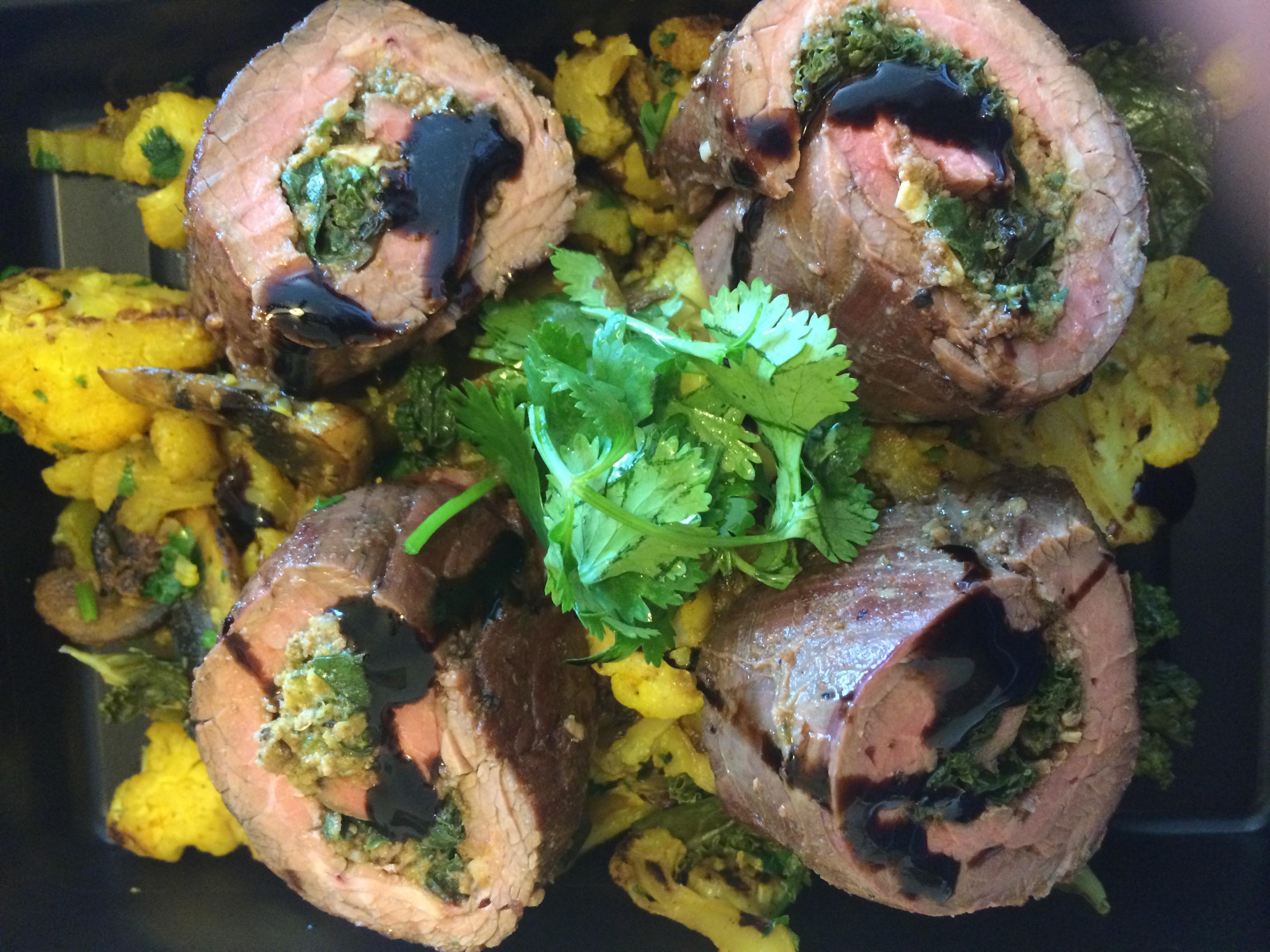 Pesto Steak Roulade